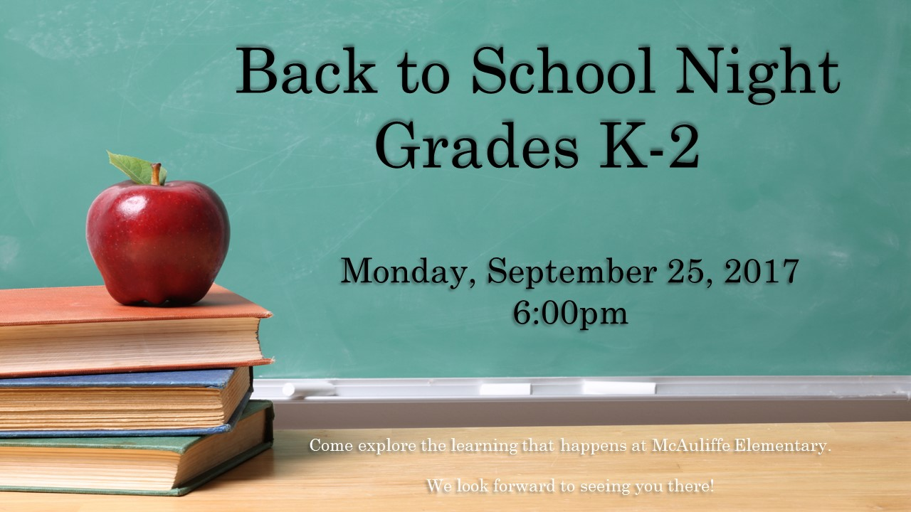 Back to School Night K-2 Flyer